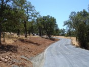 View of the road after polymer application